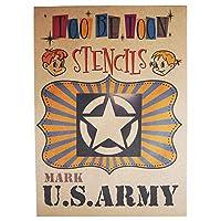 U.S.ARMY AIR FORCE アメリカ陸軍 アメリカ空軍 ロゴ 3サイズステンシルシート (U.S. ARMY)