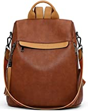 Telena Travel Backpack Purse for Women, PU Leather Anti Theft Large, Ladies Shoulder Fashion Bags