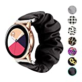 Seltureone Compatible for GizmoWatch,20mm Scrunchie Band,Replacement Wristband Pattern Cute Band Straps for Samsung Galaxy Watch Active/Ticwatch C2 for Kids-Black