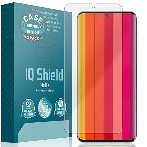 IQ Shield Matte Screen Protector Compatible with Samsung Galaxy S20 Plus (S20+ 6.7 inch)(Case Friendly)(3-Pack) Anti-Glare Anti-Bubble Film