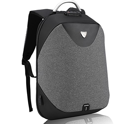 Anti-Theft Laptop Backpack - Arctic Hunter Waterproof Backpack with USB Charging Port for 15.6'' Laptop, Gray