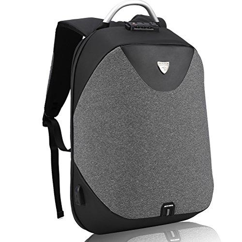Laptop Rucksack zum Herren - Arctic Hunter Diebstahlschutz Business Rucksack mit USB Zum Notebook, Nomad