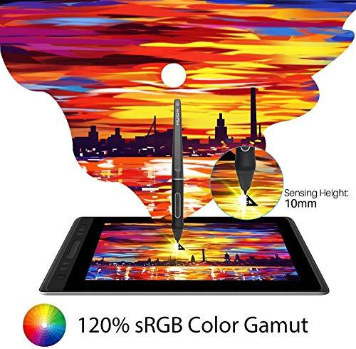 HUION KAMVAS Pro 13 Tableta Gráfica con Pantalla,Monitor de Dibujo Laminado Completo, 4 Teclas de Acceso Rápido Barra Táctil-Display Interactivo de 13,3 Pulgadas con Soporte