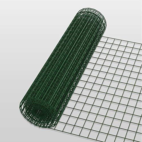 BBGS Cerca de Alambre de Revestimiento de Metal Verde de 1,2 M de Altura, Malla de Rejilla de Hierro de 30 M, Red de Protección de Cerca de Malla de Pollo (Color : 2.1mm Wire Diameter)