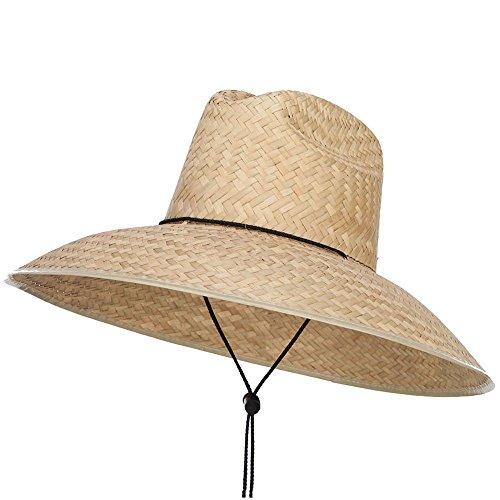 SOLID WING Men's Crushed Safari Straw Hat - Light Natural OSFM