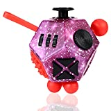Vanblue 12 Sided Fidget Cube Fidget Dodecagon Fidget Toy for Children and Adults, Stress and Anxiety Relief Depression Anti for All Ages with ADHD ADD OCD Autism (Purple)