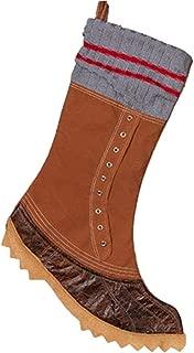 JWM Lumberjack Flannel Shirt & Work Boots Holiday Stockings (Work Boot Light Blue Cuff)