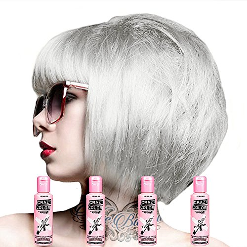 4 x Crazy Color Semi Permanent Hair Colour Dyes by Renbow 100ml Neutral 31