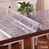 PVC Transparente Mattiert Tischdecke,Wasserdichte Ölbeständige Verbrühungsfreie Abwischbare Tischdecken Für Küchenarbeitsplatten Esstische Schreibtische,C-80x135cm(31x53inch)