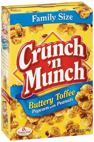 Buy Discount Crunch 'n Munch Buttery Toffee Popcorn with Peanuts, 12 Oz. (Pack of 6)