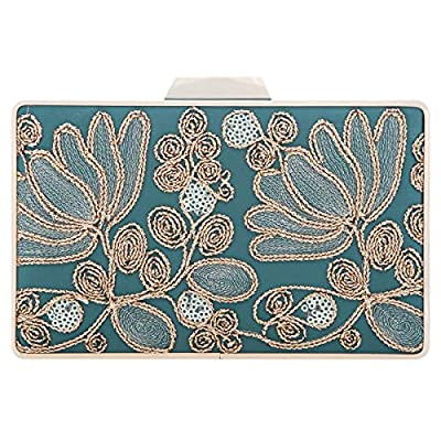 Fawziya Embroidery Wedding Clutch Satin Sequin Evening Bags And Clutches For Women