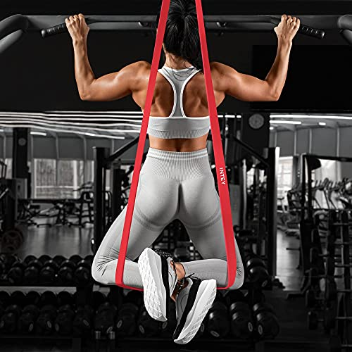 INTEY Pull Up Band Exercise Resistance Bands for Workout Body Stretch Powerlifting Band Set of 4