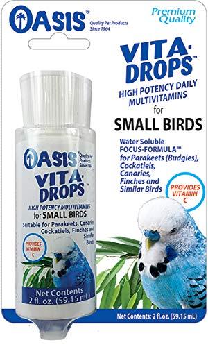 OASIS #80257 Vita Drops for Small Birds, 2- ounce liquid multivitamin