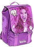 Chica Vampiro Mochila escolar extensible mediana con doble compartimento interior para niños, de poliéster, color morado, 38 cm