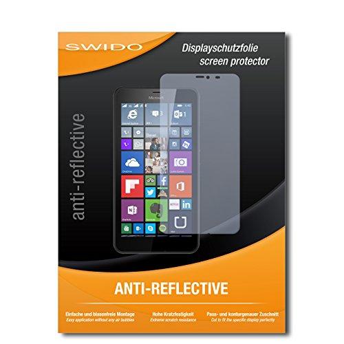 SWIDO Bildschirmschutz für Microsoft Lumia 640 XL Dual SIM [4 Stück] Anti-Reflex MATT Entspiegelnd, Hoher Festigkeitgrad, Schutz vor Kratzer/Glasfolie, Schutzfolie, Bildschirmschutzfolie, Panzerglas Folie