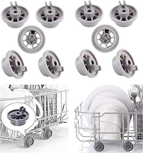 Pinzas de ruedas para lavavajillas para Bosch 165314 estante inferior para lavavajillas Bosch Neff Siemens AP2802428 PS3439123 Pieza de repuesto 10Pcs