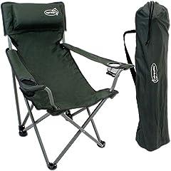 Chaise pliante pliante avec supports de boissons Rembourrage et accoudoirs