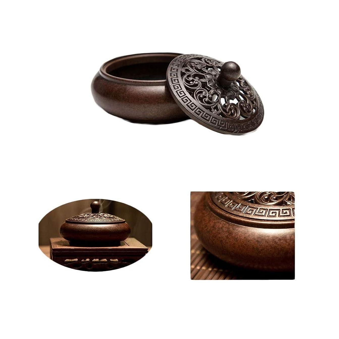 溶けるカフェ偉業ホームアロマバーナー 純銅香炉アンティーク香炉吉祥香炉手作り香炉 アロマバーナー (Color : Brass)