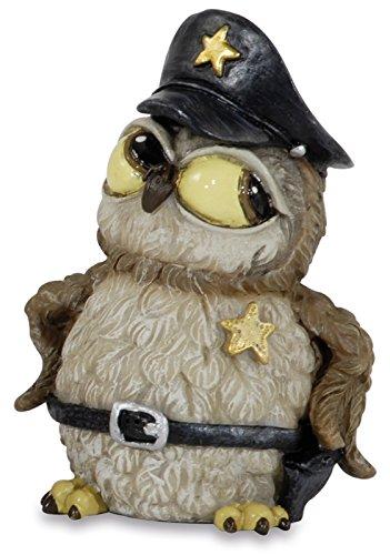 Funny Gufi - Politie uil met muts en riem