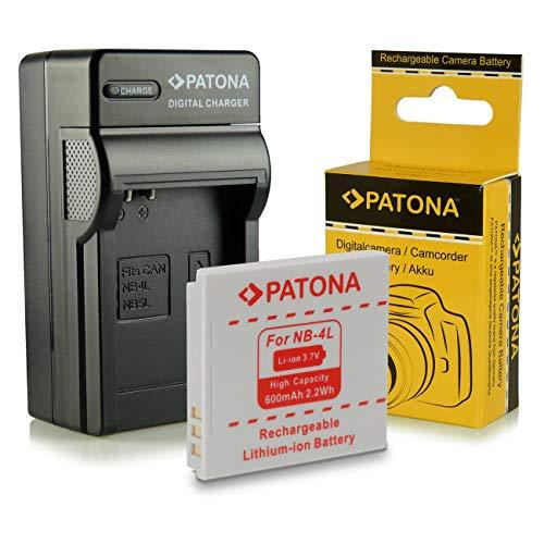 Cargador + Batería NB-4L para Canon Digital Ixus 30 | 40 | 50 | 55 | 60 | 65 | 70 | 75 |...
