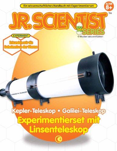 Linsenteleskop Galilei Kepler Teleskop Bausatz mit Buch Experimentierkasten