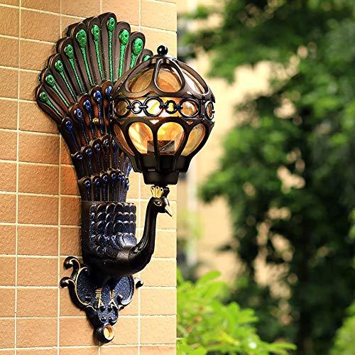 Vintage Buiten Wandlamp, Waterdichte Creatieve Pauw Wandlamp, Geschikt Voor Villa, Woonkamer, Binnenplaats, Gang, Gangpad (zonder Lichtbron)