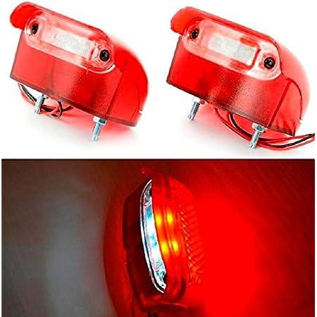 4 X Rote Led Rückleuchten Weiße Kennzeichenbeleuchtung 24 V Lkw Anhänger Kipper Camper Lkw Wohnwagen Bus Auto