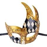 Kapmore Masquerade Mens Vintage Mardi Gras Máscara Carnaval Veneciano Halloween Máscara (one size, Style 1)