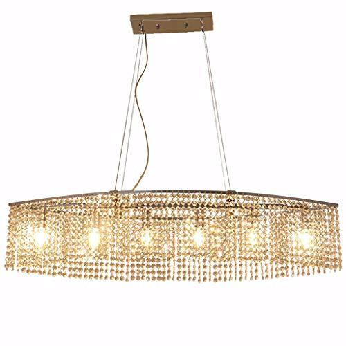 Modernas lámparas araña cristal gotitas de cristal lujo elegantes luces techo luminaria empotrada iluminación colgante de cromo para comedor sala estar vestíbulo cocina [clase energética A ++]