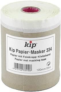 Kip 334 Papier-Masker, Natronpapier mit Feinkrepp-Klebeband 100mm x 25m