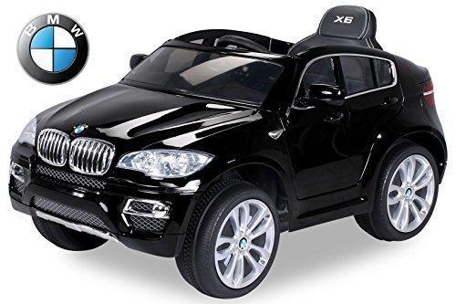 Auto elettrica per bambini originale BMW X6 edizione speciale verniciata con licenza, motore 2x 45 Watt, sedile e cruscotto in pelle, veicolo elettrico per bambini, autoveicolo per bambini