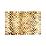 WohnDirect rutschfeste Holz Badematte Natur • Nachhaltige, Robuste Holzmatte für Badezimmer, Sauna & Wellness - Duschvorleger aus 100% Akazienholz – 50 x 80 cm