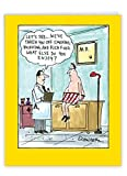 NobleWorks - Big Funny Get Well Soon Card (8.5 x 11 Inch) - Cartoon Humor, Feel Better Greeting - What Else You Enjoy J4476