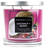 Aromascape PT41459  3-Wick Scented Jar Candle, Coconut & Berry,14 Ounce