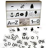 Michel Toys Ergänzungsset Buchstaben und Zeichen für Leuchtbox 100 Stück