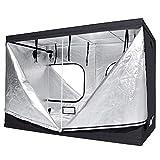 LAGarden 118'x59'x79' 600D 100% Reflective Mylar Hydroponics Indoor Grow Tent Planting Room 9.8x5x6.5ft