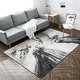 Yurun Teppich Vintage, Antistatisch Flauschiger, mit 8 Teppichgreifer Antirutschmatte für Schlafzimmer Sofa Boden Home Decorator, (180 x 210cm)
