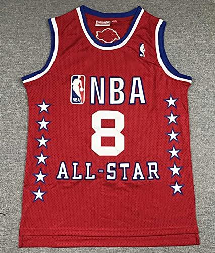XFKL Jerseys De La NBA De Los Hombres, Chicago Bulls # 8 Michael Jordan Transpirable Resistente Al Desgaste Bordado De Malla Bordado Swings Jerseys Camiseta Deportiva,A,L