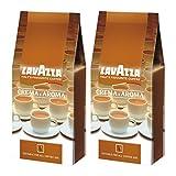 Lavazza Kaffee Crema E Aroma, gemahlen, 2 x 1Kg Packung