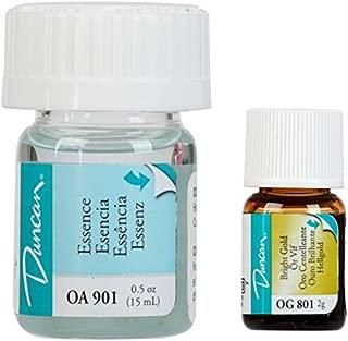 Duncan Overglaze Set Includes one Each: Bright Gold OG801 and Essence OA901