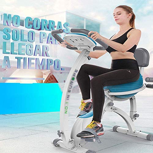 Yanzz Indoor Spin Bike Heimtrainer mit Yoga-Kugel-Sitz, Spin Cycling Bike Indoor Cycle Stationär, Trainingsgeräte for Home Office Cardio Workout dsfhsfd