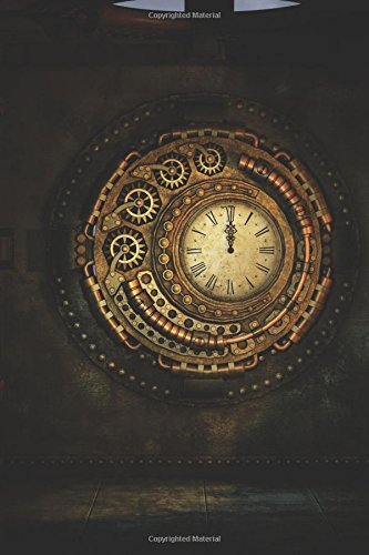 Awesome Gold Steampunk Clock Journal: 150 Page Lined Notebook/Diary