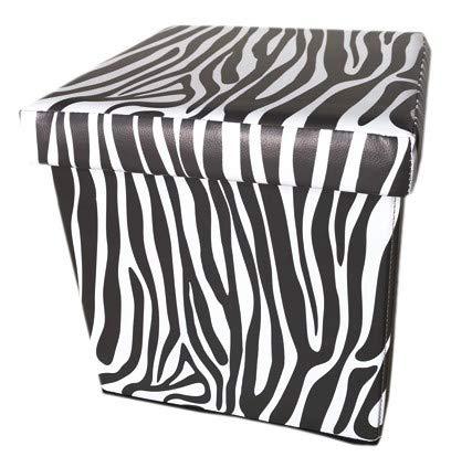 pouf zebra PUFF CUBO 32x32x32 PIEGH. ZEBRA