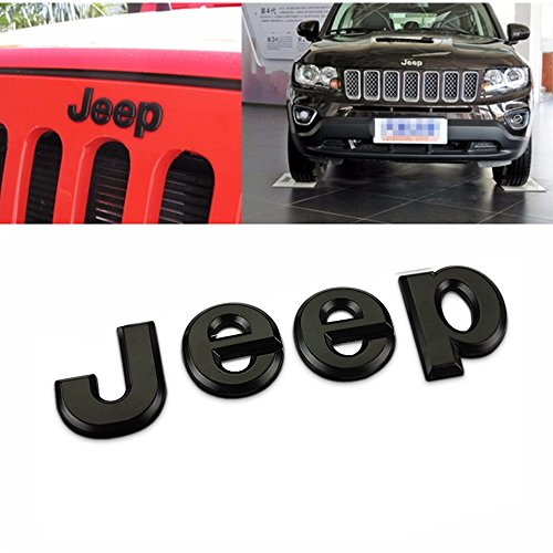Hanway 3d adhesivo Jeep delantero Capó Emblema para maletero palabras Jeep Logo Capucha cabeza adhesivo Wrangler Grand Cherokee Liberty Brújula