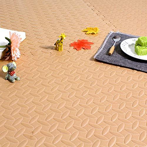 HLMIN Tapis Enfant Tapis Puzzle en Mousse L'épissure De Tapis De Rampement d'enfant De Salon De Chambre À Coucher De Grand Ménage Doux Peut Être Coupée À Volonté (Color : Beige, Size : 1pc)