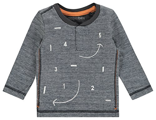 Noppies B tee LS Toledo Camiseta de Manga Larga, Gris (Charcoal C271), 80 cm Unisex bebé