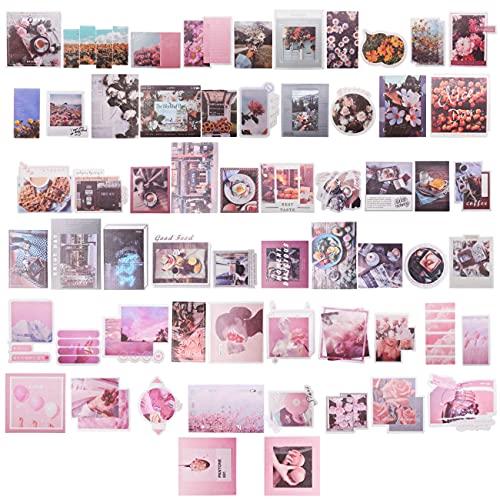 Parete Kit Collage Miotlsy Kit Collage da Parete Immagini estetiche Decorazioni Arredamento camera da letto per ragazze adolescenti collage a muro, collage per estetica a parete Piccoli Kit 120 Pezzi
