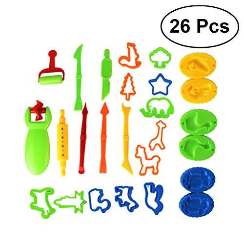 Yeahibaby Juegos de Herramientas para moldes de Pasta DIY Play - Juegos de simulación Juguetes Set de plastilina Creativa para niños - Pack de 26