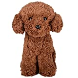 WEIGEDU Poodle Dog Toy, Teddy Bear Puppy Plush Stuffed Animal Toys, 11.8' Brown