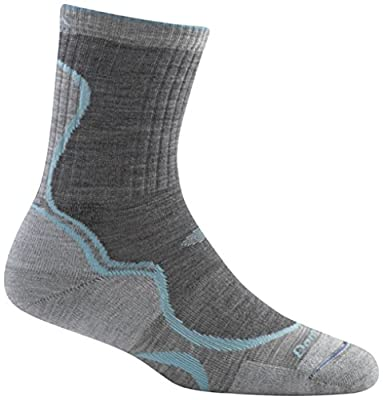 Darn Tough Vermont Micro Crew Light Cushion Socks Slate/Seafoam MD (US 7.5-9.5)